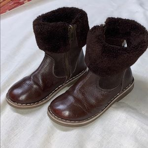 Girls Mini Boden boots brown size 11.5